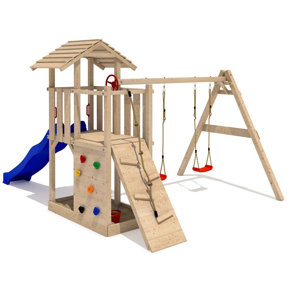 parque infantil empire ii torre subibaja hechos de madera slida natural gangas de espaa