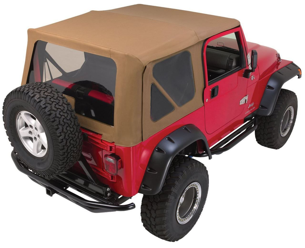 Rampage Rp68335 Complete Top Frame Hardware 97 06 Jeep Wrangler With Soft Upper Doors Diamond Black Jeep Wrangler Tj Wrangler Tj Soft Tops