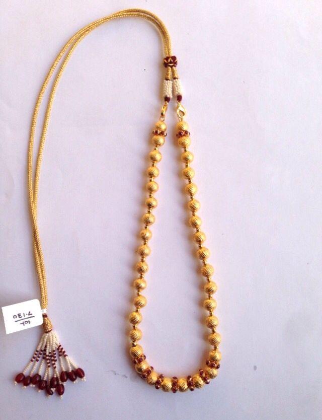 Antique Gold Handmade Wax Beads Wax Mala Kolhapur 916 weight 8-10 ...