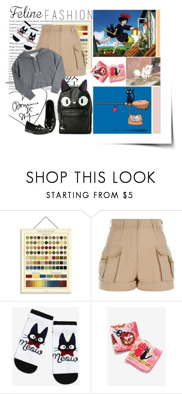 """""""jiji"""" by jazminelizette ❤ liked on Polyvore featuring Newgate, Balmain, Golden Goose, Studio Ghibli and Hot Topic"""