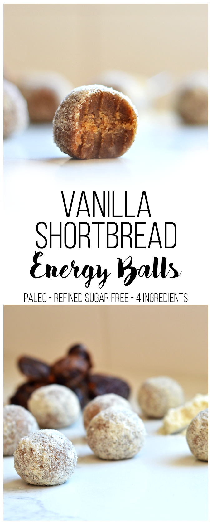 Vanilla Shortbread Energy Balls - Little Bits of...