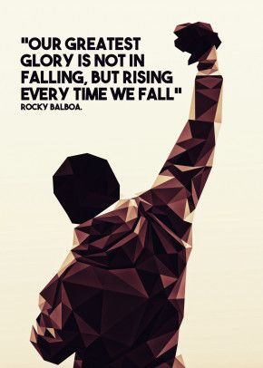 Rocky Greatest Glory Sylvester Stallone Poster Motivation Sport Film Picture