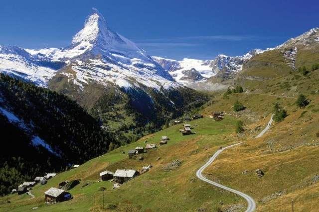 Voigt: Winkelmatten-Alm Matterhorn Kanton Wallis Alpen