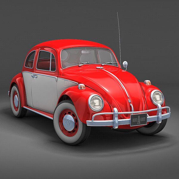 Volkswagen Beetle Retro 4k Hd Wallpaper: Pictures Of Red & White Vw