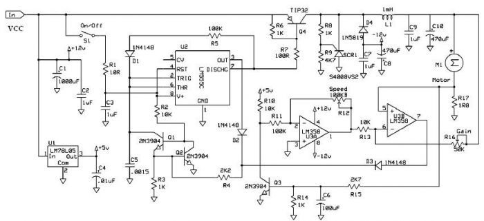 schematic diagram of the electronic speed controller