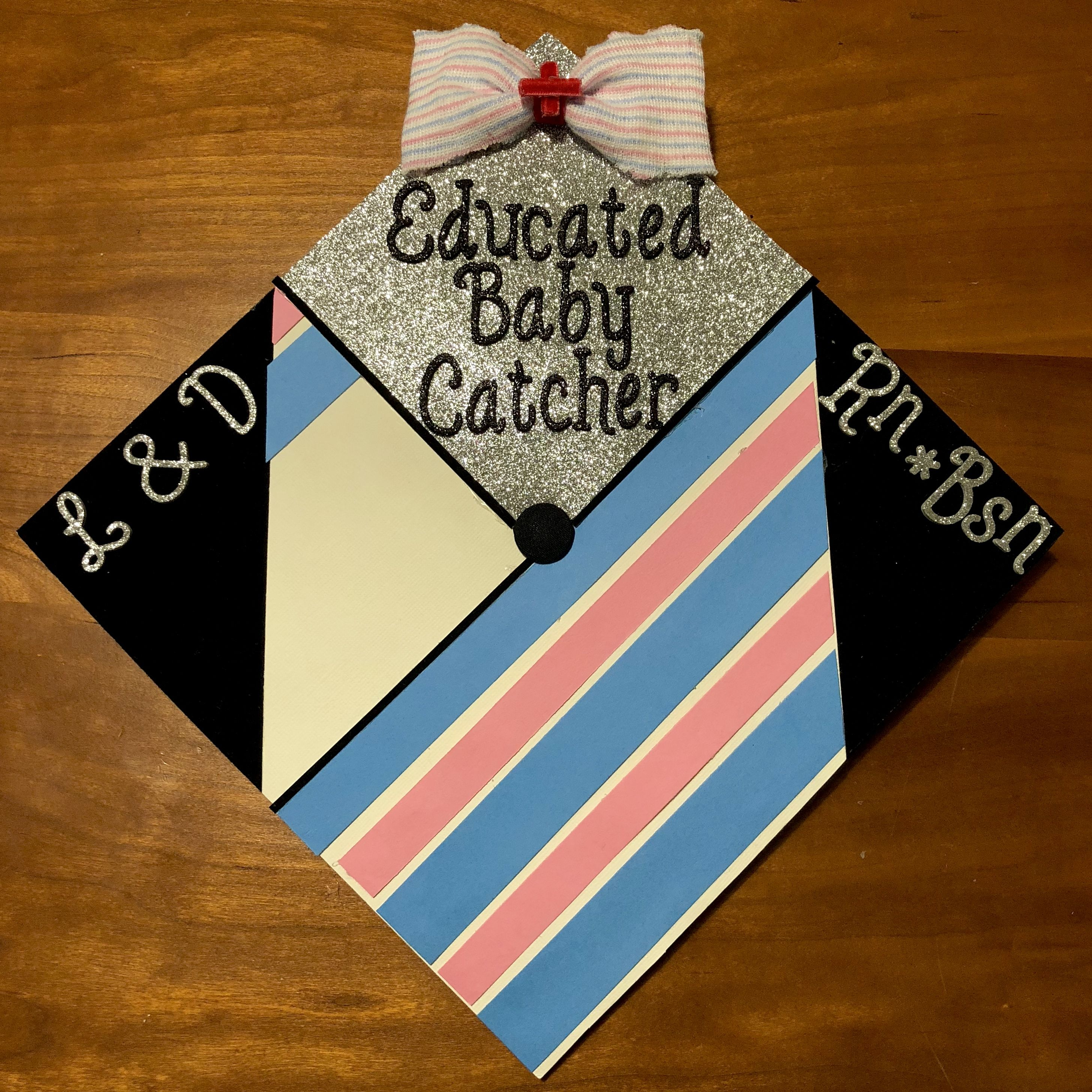 Labor Delivery Nurse Graduation Cap L D Grad Cap Rn Nurse Graduation Cap College Graduation Cap Decoration Nursing Graduation