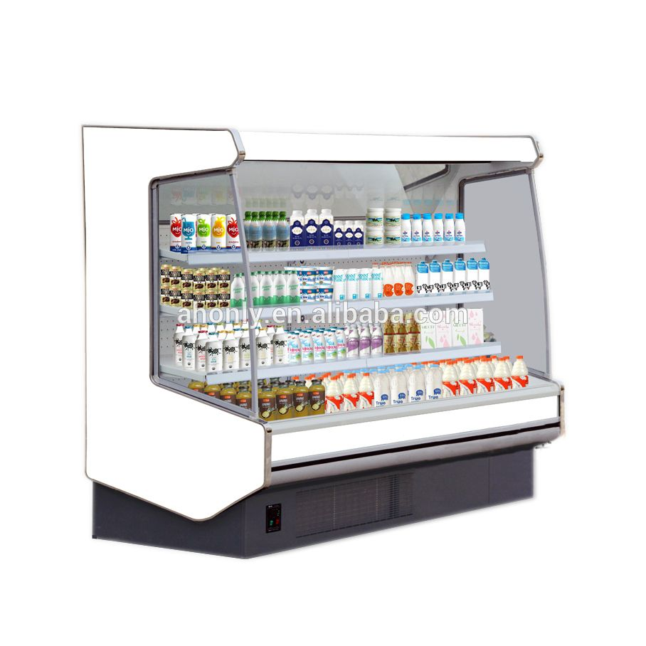 Supermarket Air Curtain Cabinet Refrigerated Fresh Fruit And