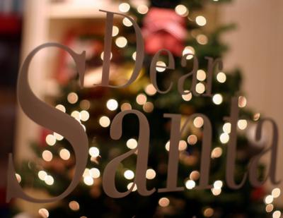 Dear Santa In Lights