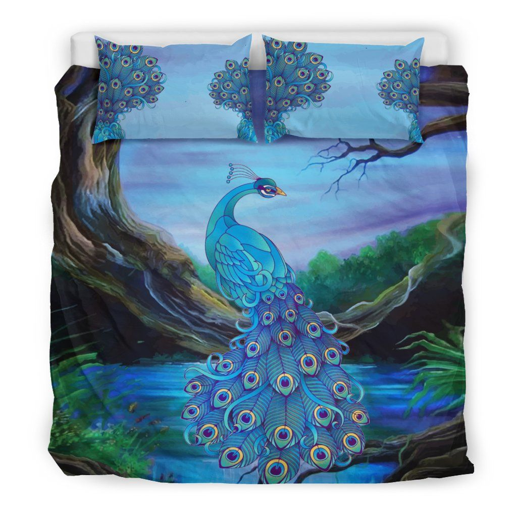 Peacock bedding set bn in peacock home pinterest