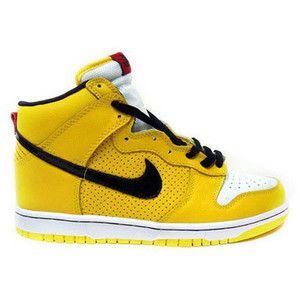 Nike Dunk High Tops Premium Yellow Black White Promo Sale Online : Nike Hi  Tops Dunks · Yellow ShoesYellow ...