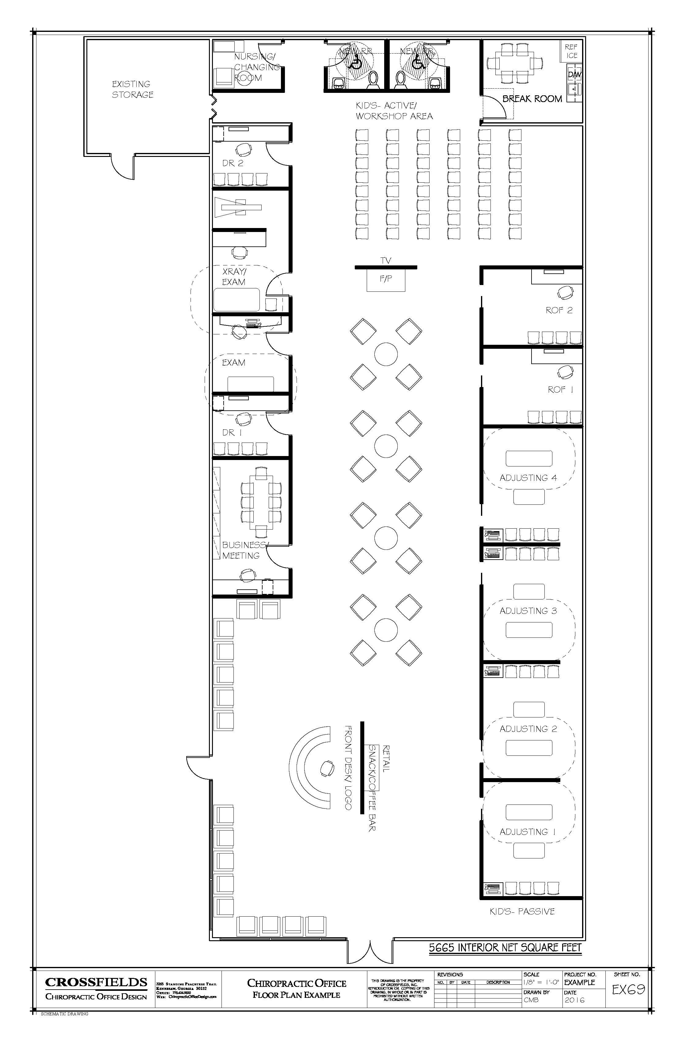 Sample floor plan with x ray and semi open adjusting areas for Office floor plan samples