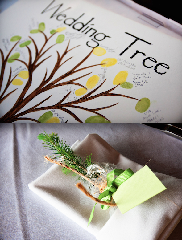 Eco-friendly wedding ideas (guest tree and sapling as favor)