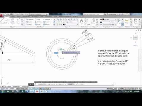Dibujar Engranajes Conicos En Autocad Parte 1 4 Youtube Engranajes Engranaje Conico Autocad