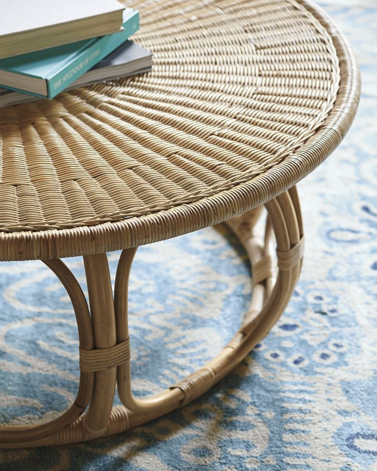Casual Rattan Coffee Table: With Its Natural Finish And The Casual Look Of Rattan