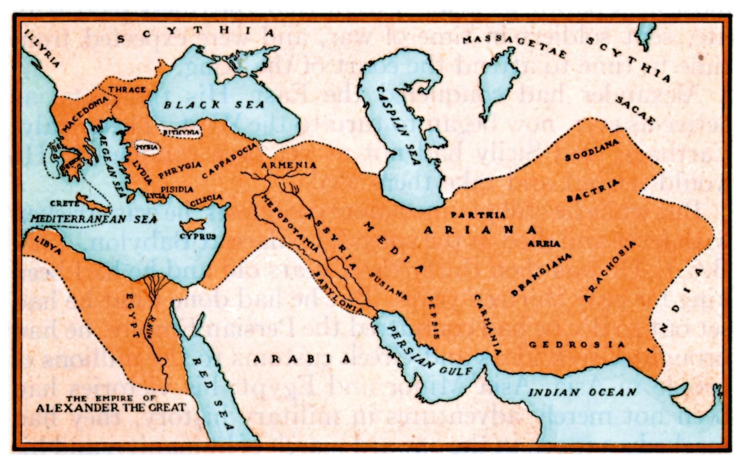 Map A Greek Empire During The Hellenistic Period Alexander The