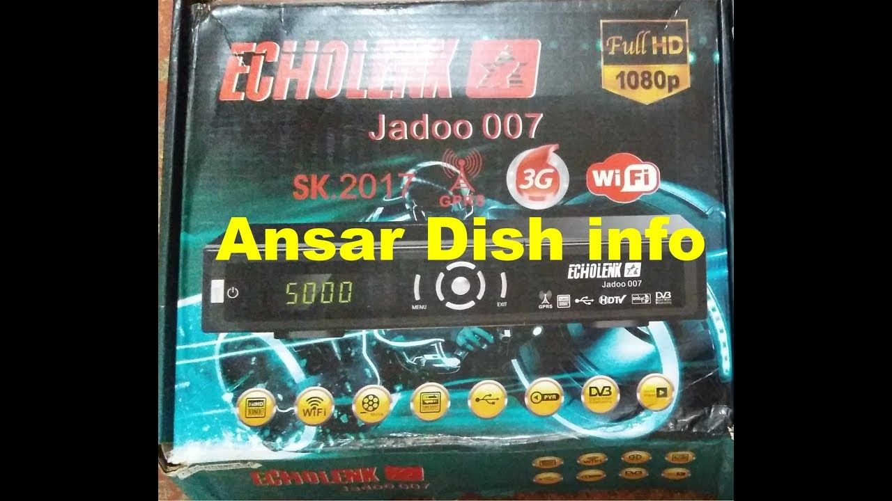 ECHOLINK JADOO 007 HD RECEIVER NEW AUTO ROLL POWER VU