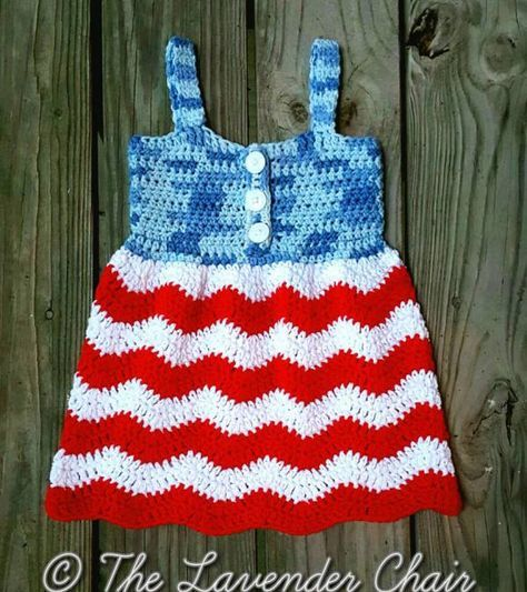 Red White And Blue Jean Dress Free Crochet Pattern The Lavender