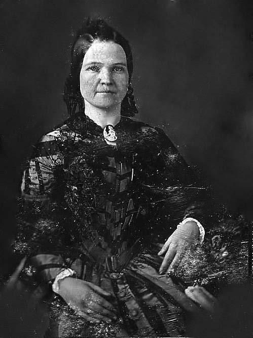 Early, three-quarters length portrait of young Mary Todd Lincoln, shortly after the time of her marriage to Abraham Lincoln.  (photo c. 1846).  *s*