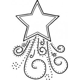 Shooting Star Embroidery Patterns Penny Rugs Coloring Pages