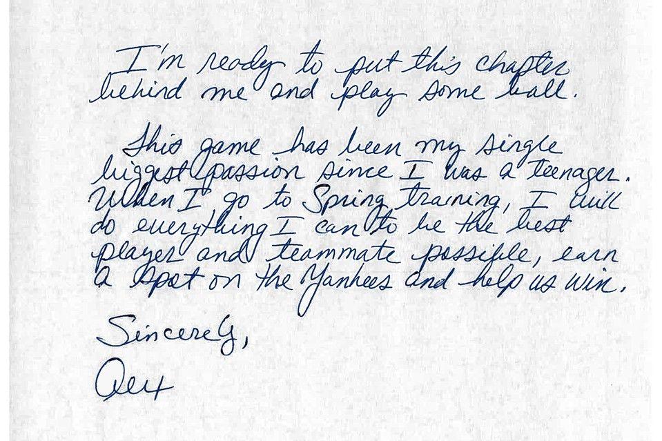 A Handwriting Expert Analyzes ARodS Letter  Alex Rodriguez