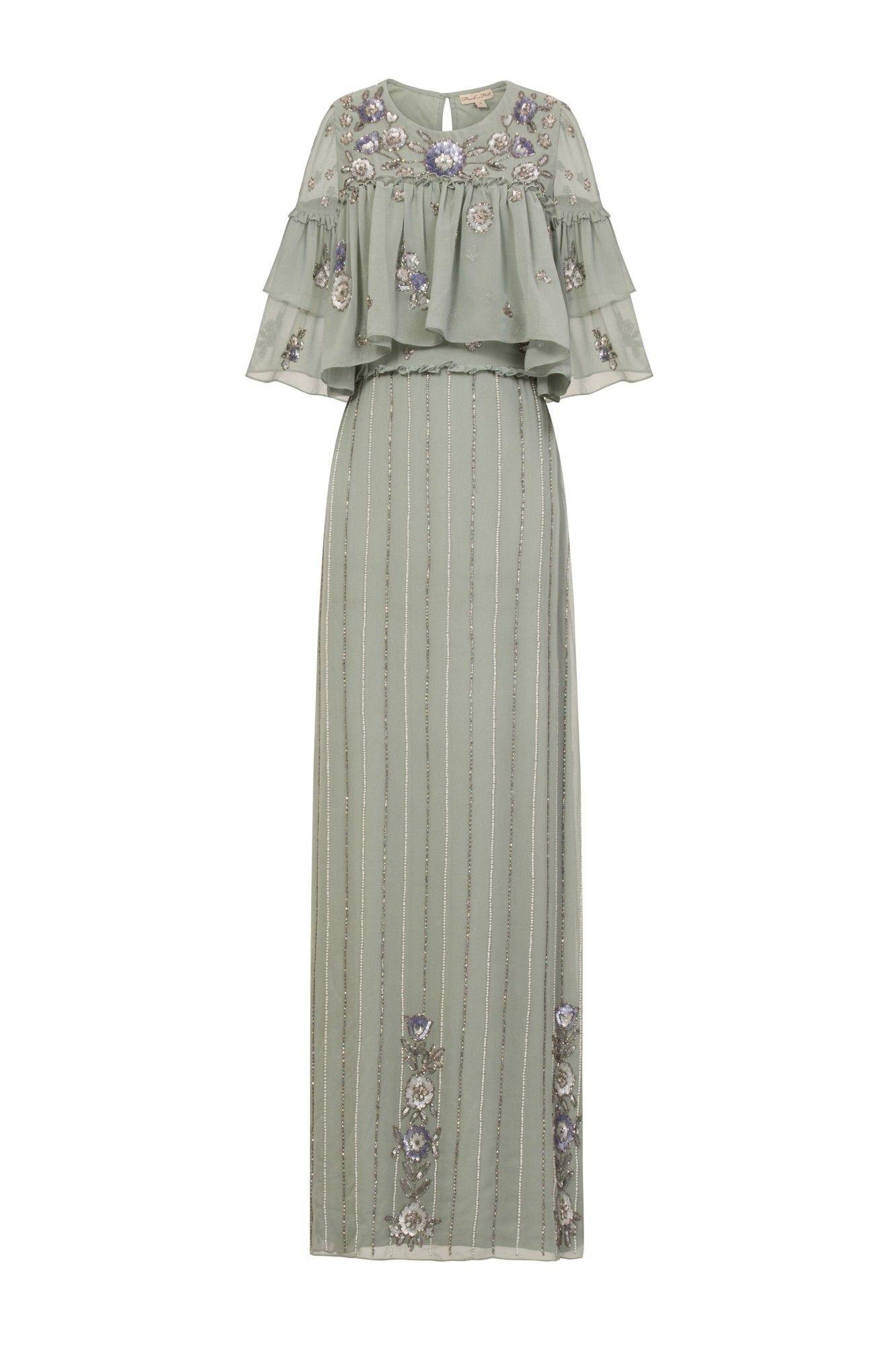 7eec3b18f11 Dawn Embellished Floral Ruffle Maxi Dress in 2019   [Fashion ...