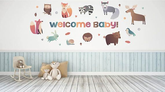 Woodland Animal Baby Shower Decorations  Baby Shower Wall