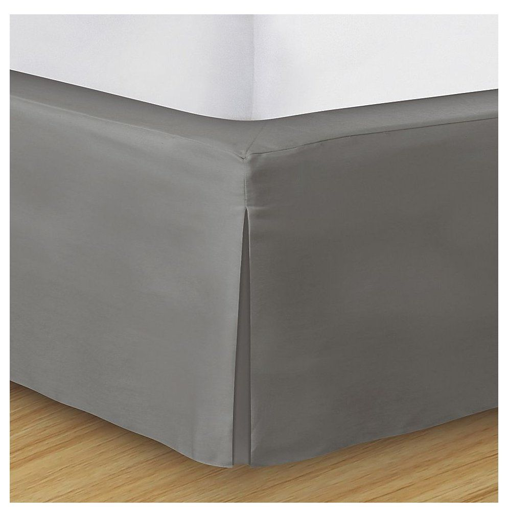 Wrap Around Wonderskirt Twin Bed Skirt In Light Grey Grey Bed Skirt Wrap Around Wonderskirt Twin Bed Skirt In Light In 2020 Bedskirt Bed Without Headboard Bed Wrap
