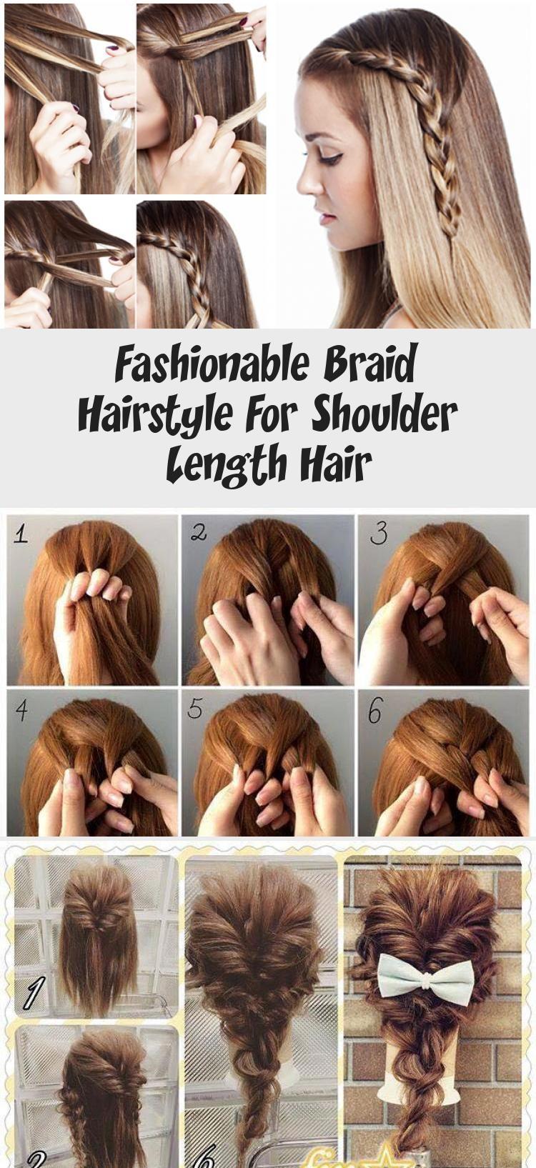 Fashionable Braid Hairstyle For Shoulder Length Hair - Hair Styles - Hair Style Ideas