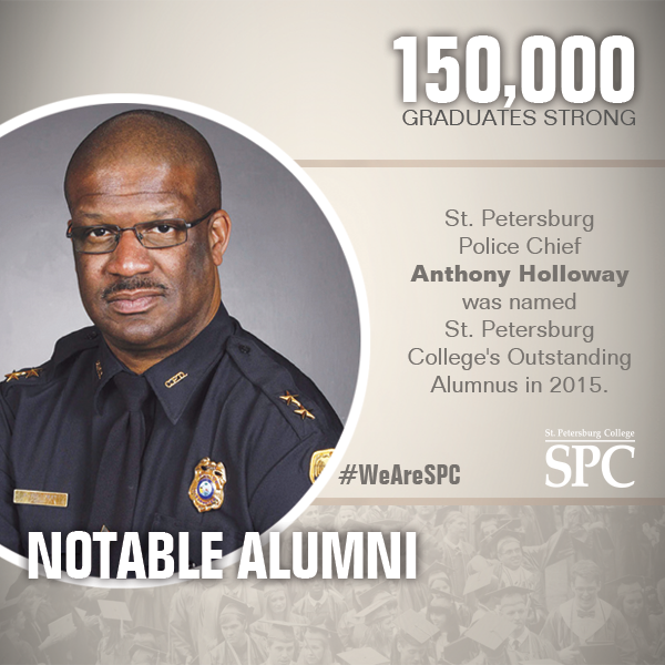 SPCollege notable alumni Anthony Holloway is the Police