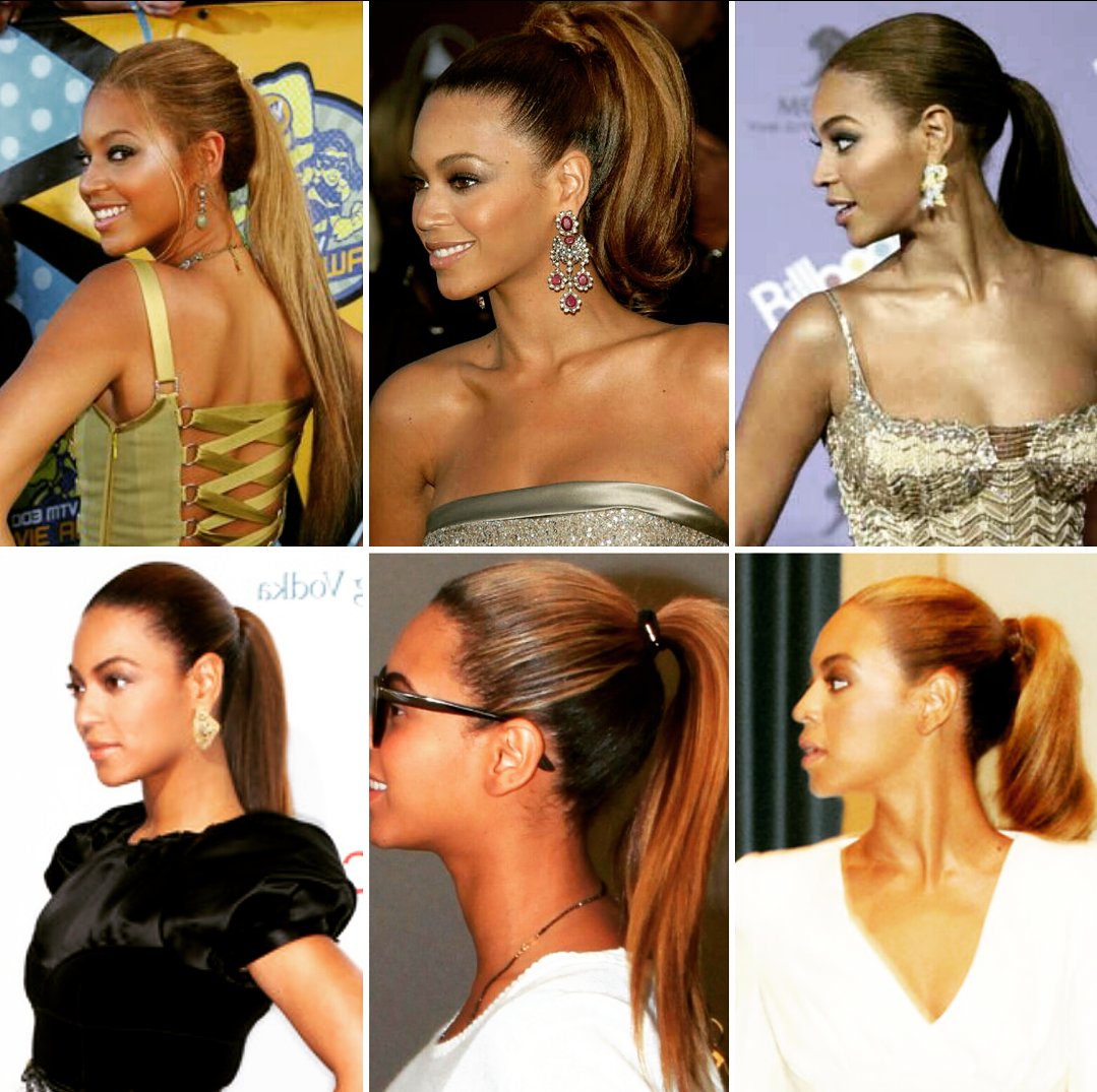 beyoncé with ponytail hairstyles | natural hair pony tail in
