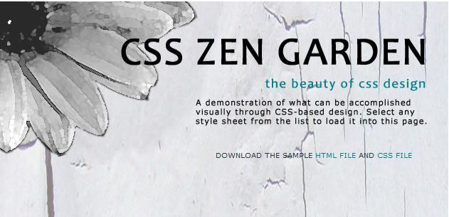 CSS Zen Garden (csszengarden.com) | Css zen garden, Zen ...