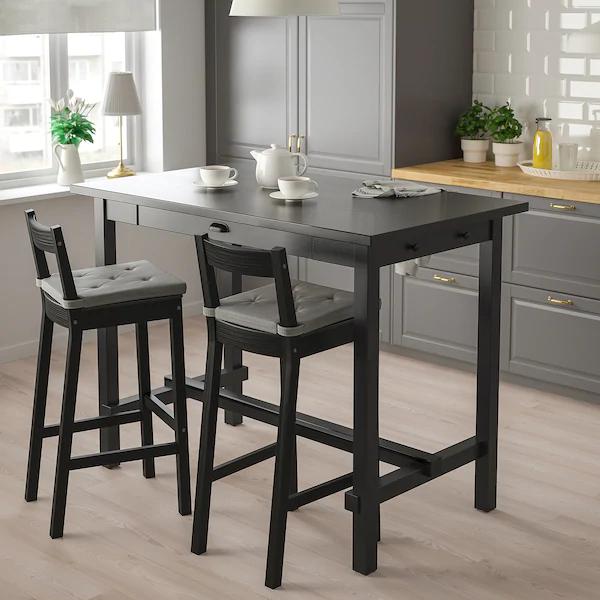 Ikea Nordviken Black Bar Table Bar Stools Table Dining Furniture