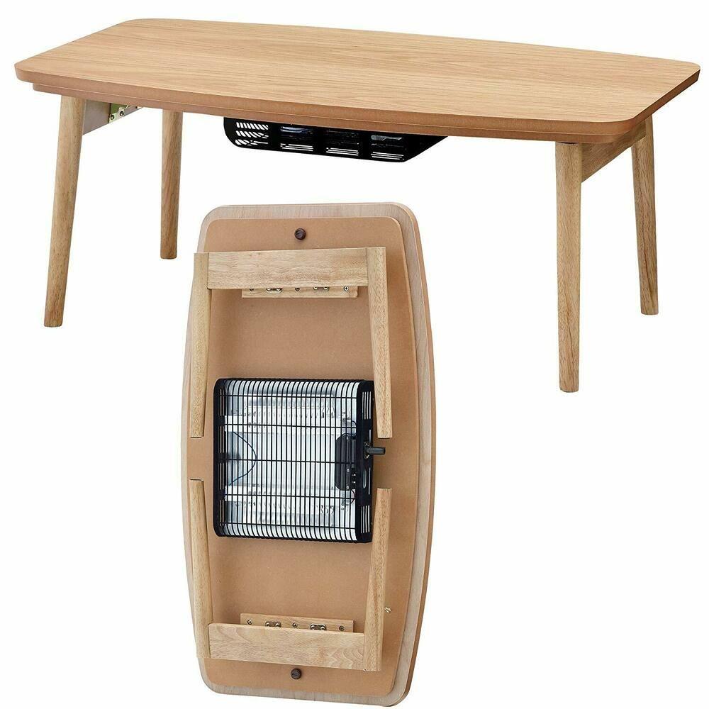 Kotatsu Electric Heater Table Folding Wooden Heating Elfe 901oak Azumaya Japan Azumayajapan Wood Console Table Ikea Lack Coffee Table Ikea Side Table [ 1000 x 1000 Pixel ]