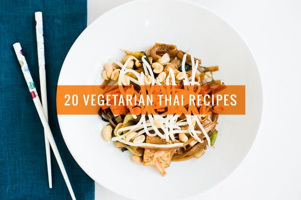 20 Vegetarian Thai Recipes {Note: not all are gluten-free, so make GF ingredient substitutions as needed.}