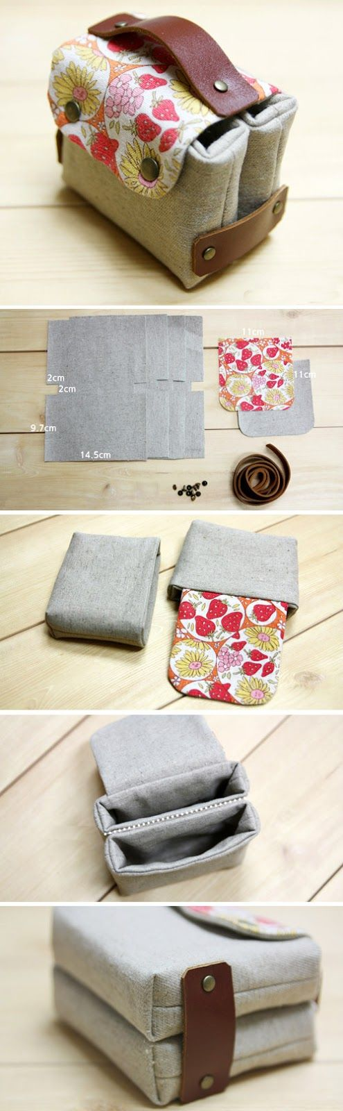 Sewing Fabric Gift Card or Business Card Holder. Tutorial DIY in ...