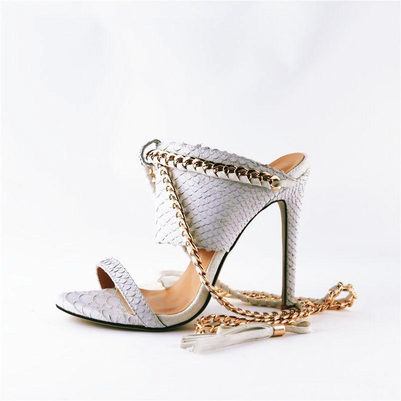 white cold blooded zmeya sandal