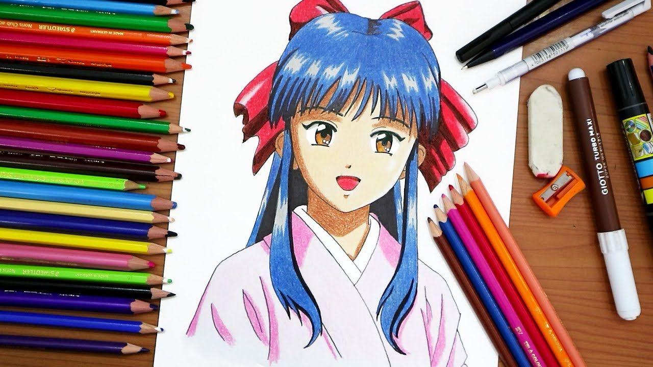 رسم ساكورا من انمي ساكورا Sakura Wars