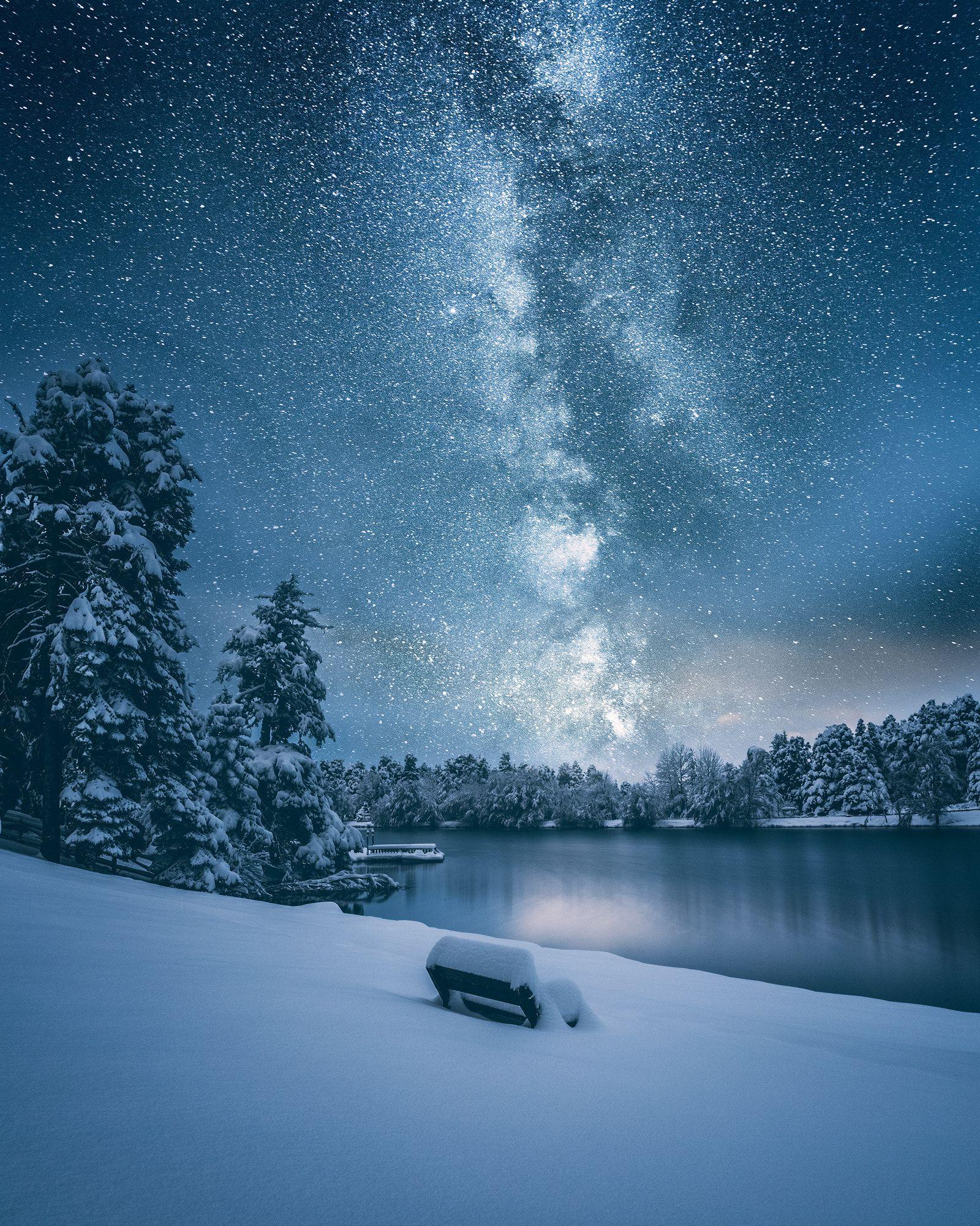 Milky Way By Cuma Cevik On 500px Night Landscape Night Landscape Photography Winter Landscape