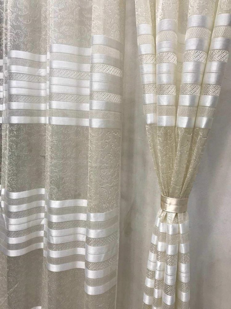 Imported Heavy Tissue Net Fabric Set Of 2 Cream 7 Feet Curtains At Affordable Price In India Home Homedecor Homedesign Curtainsstyles