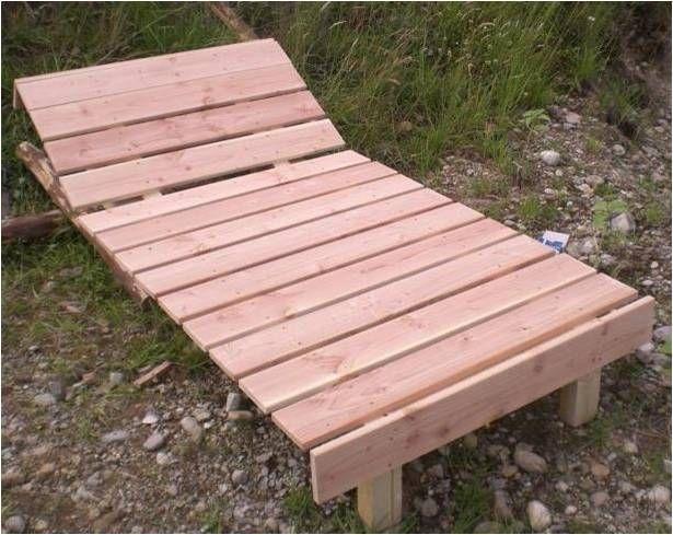 Sonnenliege aus Holz bauen - Bauanleitung, Liegestuhl kippbar aus