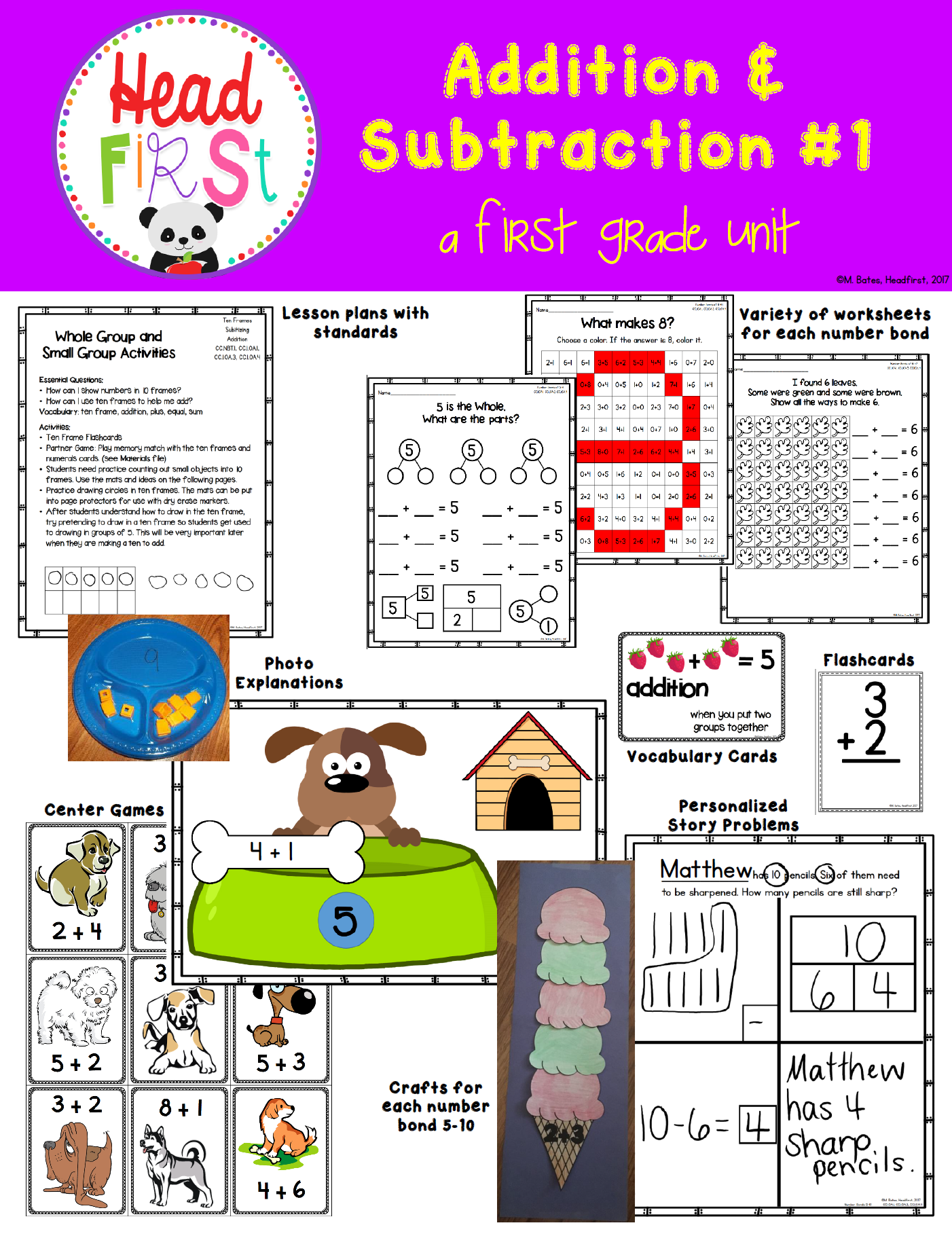Number Bonds Addition And Subtraction For 1st Grade Math
