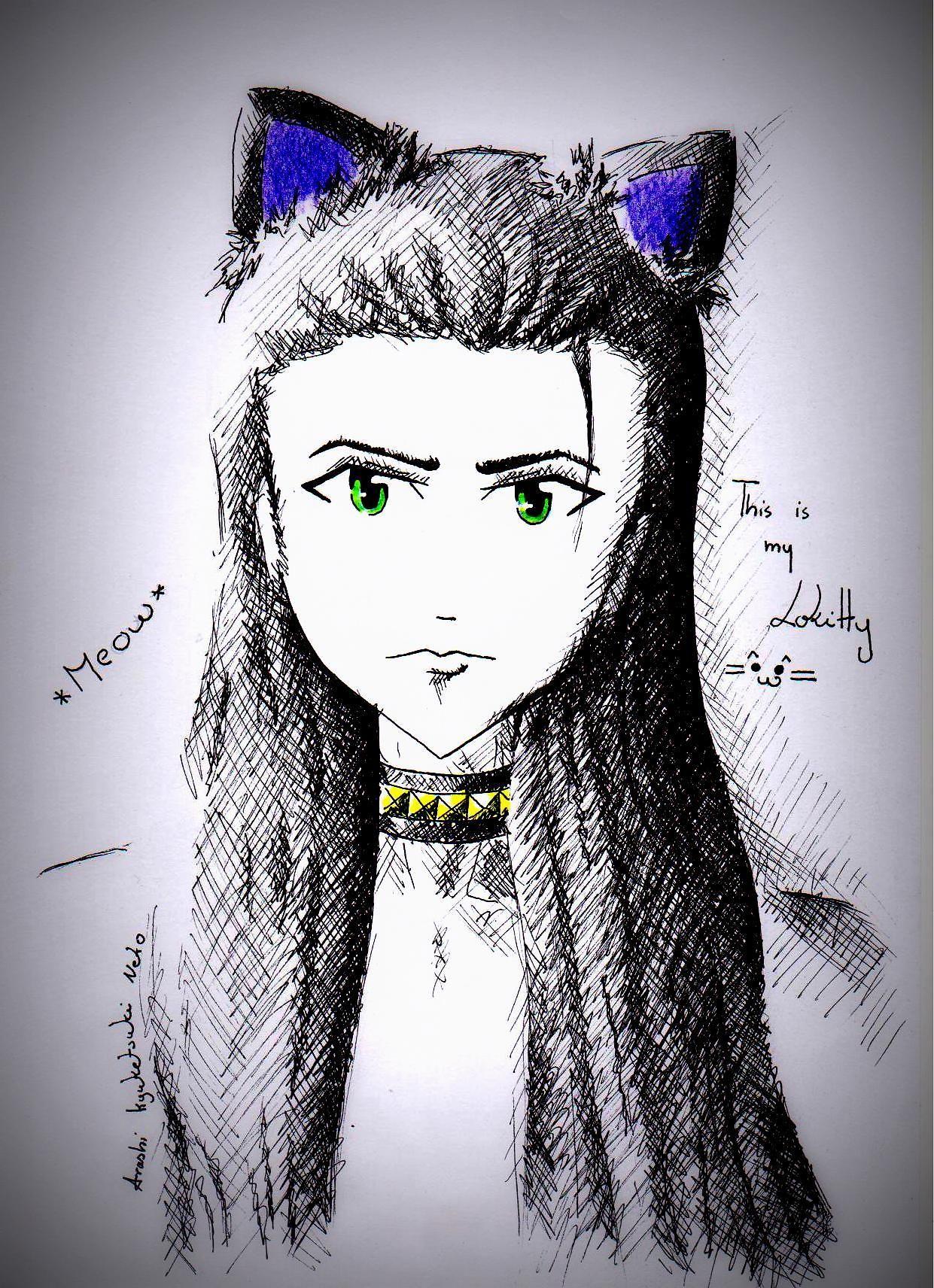 I drew picture of my cute friend :)