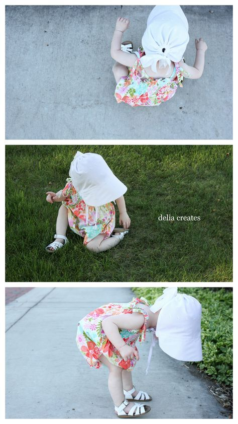 Vintage Brimmed Bonnet free pattern + tutorial // Delia Creates ...