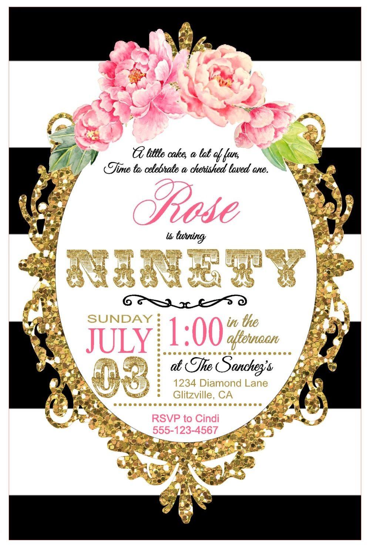 90th Birthday Party: Invitation.   90th Birthday Party Ideas ...