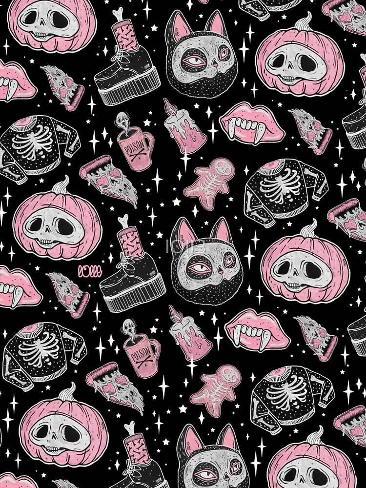 Spooks Or Creeps A Line Dress By Loll3 Witchy Wallpaper Goth Wallpaper Halloween Wallpaper