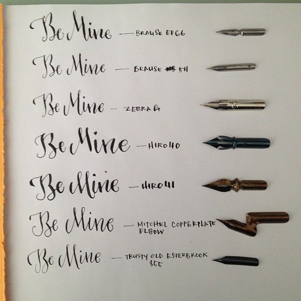 Here Are All The Nibs Alongside Istilllovecalligraphy