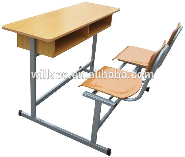 SF-1066,Double School desk and chair set for double person ...