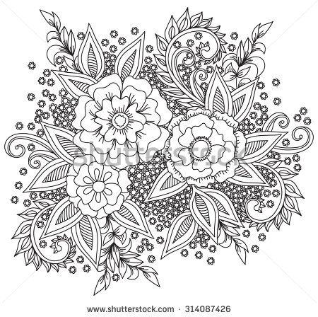 zentangle art - Buscar con Google | Mandalas.Dibujos flores ...