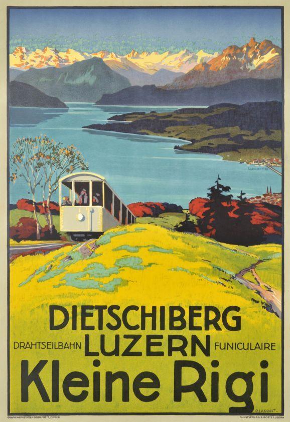 Dietschiberg Luzern Kleine Rigi, Drahtseilbahn funiculaire.