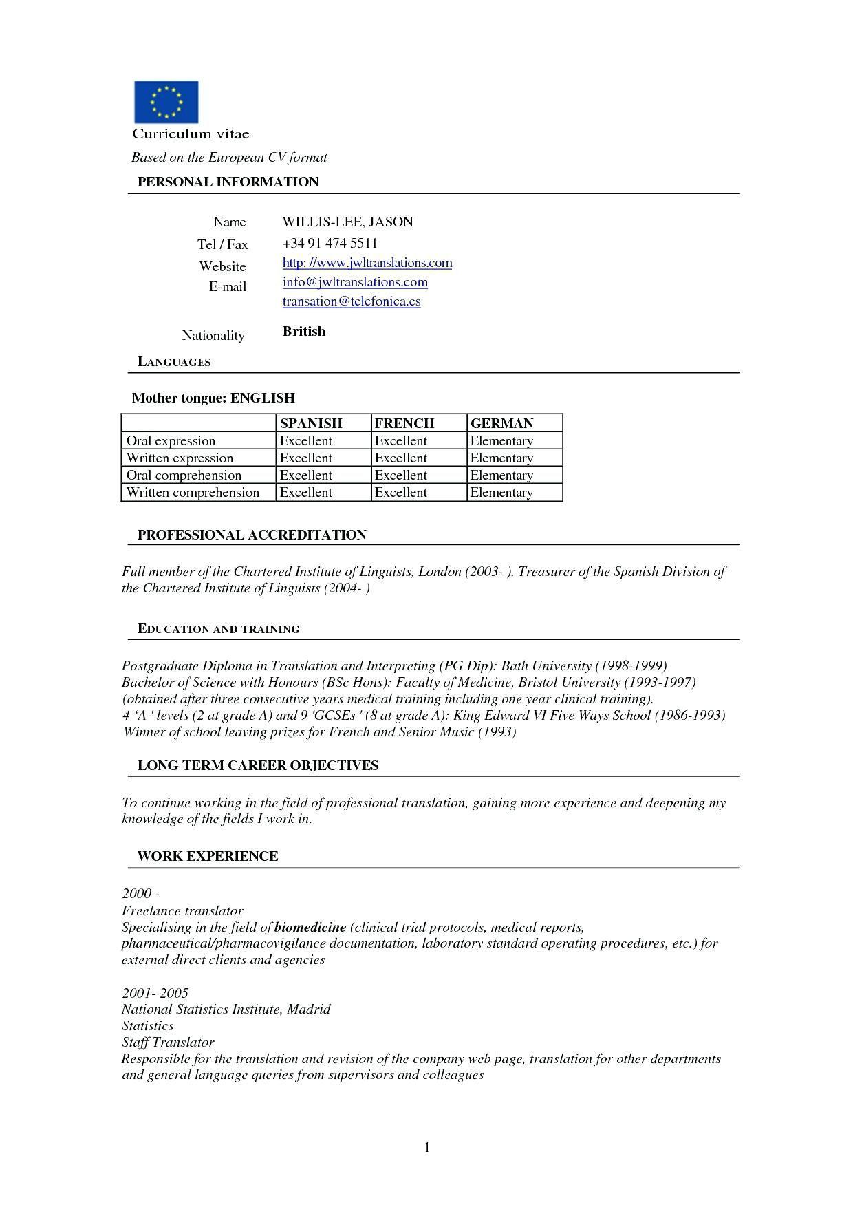 Writing Resume For Freshers